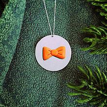 Dekorácie - Strieborné vianočné ozdoby (s mašličkou - vianočná guľa) - 7316268_