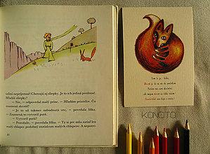 Papiernictvo - pohľadnica: l í š k a  +  t e x t - 7317908_