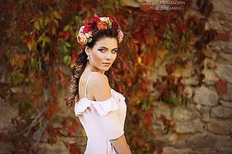 Ozdoby do vlasov - kvetinový polvenček - 7320678_