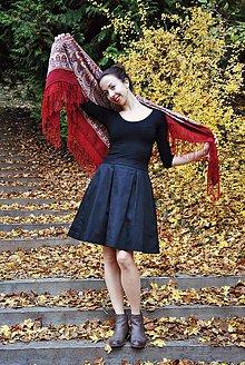 Sukne - Černá sukně s kapsami a podšívkou - 7318283_