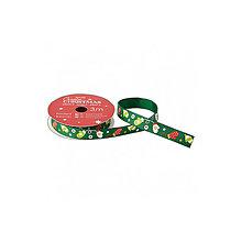 Galantéria - Stužka 3m Zelené rukavičky, aby teplo bolo - 7318618_