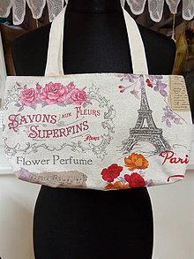 Taštičky - Plátená taška Paríž - 7320266_