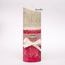 Svietidlá a sviečky - Raspberry & Gray - 7319250_