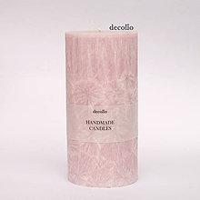 Svietidlá a sviečky - Ružová sviečka Ø65 - 7319543_