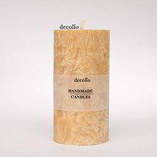Svietidlá a sviečky - Medová sviečka Ø55 - 7319806_