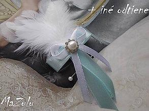 Pierka - svadobné pierko v mentole - 7322161_