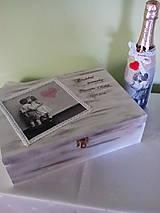 Krabičky - Drevená krabička Na svadobné spomienky - 7321197_