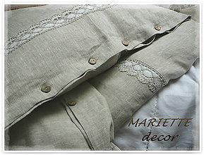 Úžitkový textil - Lněné povlečení , lněná krajka - 7318946_