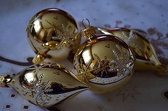 Dekorácie - Zlatá sada s hviezdičkami - 7318596_
