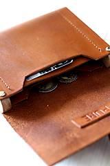 Peňaženky - Peňaženka WALLET BROWN UNI - 7318497_