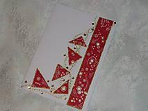 Pohľadnica A5...Červené trojuholníky v zlate