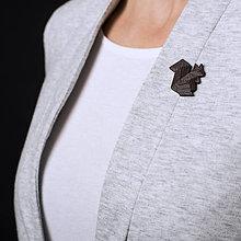 Odznaky/Brošne - Veverička hnedá - pin - 7320352_