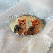 Dekorácie - Kamienky pre šťastie Mačiatka hnedé, kremeň - 7321481_