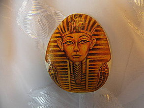 Dekorácie - Kamienok pre šťastie Tutanchamón - 7322008_