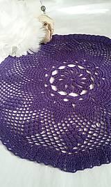 Úžitkový textil - Obrus z Fialkového údolia 2 - 7317302_