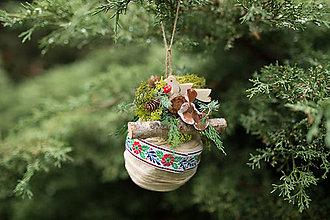 """Dekorácie - Folk vianočná guľa (nielen) na stromček """"folkáč"""" - 7320846_"""