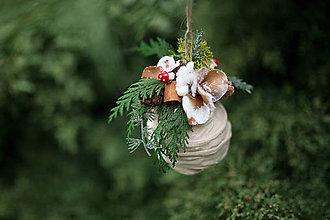 Dekorácie - Folk vianočná guľa (nielen) na stromček \