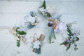 """Dekorácie - Set šiestich vianočných ozdôb """"zasnežené sny"""" - 7321410_"""