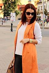 Iné oblečenie - Oranžová vesta - 7319307_