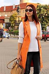 Iné oblečenie - Oranžová vesta - 7319323_