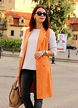 Iné oblečenie - Oranžová vesta - 7319331_
