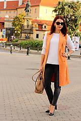Iné oblečenie - Oranžová vesta - 7319335_