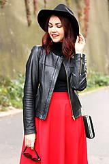 Sukne - Červená kruhová sukňa - 7319590_
