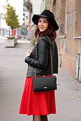 Sukne - Červená kruhová sukňa - 7319612_