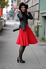 Sukne - Červená kruhová sukňa - 7319628_