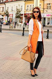 Iné oblečenie - Oranžová vesta - 7319314_