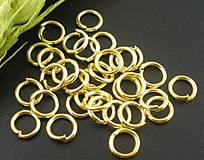 - Bižutérne krúžky zlaté 6mm (balíček 50ks) - 7318535_