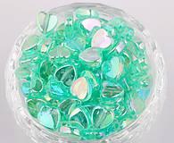 Korálky - Korálka srdiečko 9x9mm zelené - 7318703_