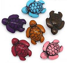 Korálky - Plastové korálky korytnačky (balíček 10ks) - 7318784_