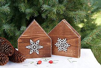 Dekorácie - Rustikálne zimné domčeky - 7320964_