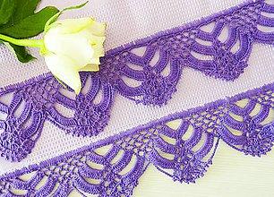 Úžitkový textil - Utierka s háčkovaným okrajom, fialová - 7318920_