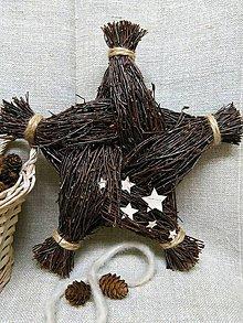Dekorácie - brezová hviezda - 7321310_
