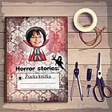 Detské doplnky - Hororová žiacka knižka trocha ghotic - 7316999_