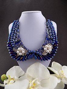 Náhrdelníky - Dolce Vita Blue Collar ... náhrdelník, límeček - 7327172_