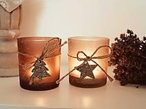 Svietidlá a sviečky - Vintage svietnik 2ks - 7326317_