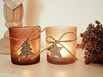 Svietidlá a sviečky - Vintage svietnik 2ks - 7326318_