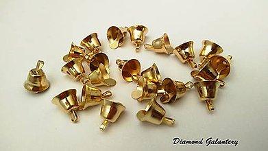 Komponenty - Rolnička zvonček 11 mm - zlatá - 7326371_