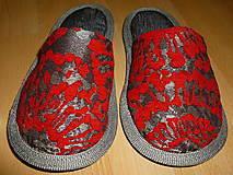 Obuv - Papuče mozaika červená  - 7326127_