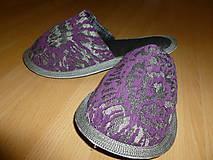 Obuv - Papuče mozaika fialová  - 7326157_
