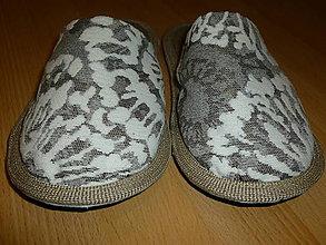 Obuv - Papuče mozaika biela - 7326259_