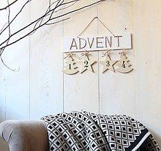 Dekorácie - Advent tabuľka - 7326061_