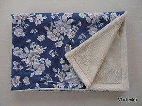 Úžitkový textil - Deka / prikrývka Shabby chic a Vintage RUŽE modré - 7327219_