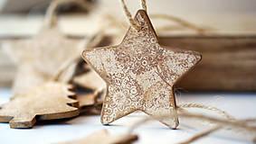 Drevená hviezda, vianočná ozdoba