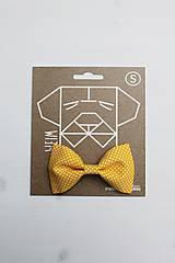 Pre zvieratká - Motýlik - na obojok pre psíka - žltý s malými bodkami - 7322497_