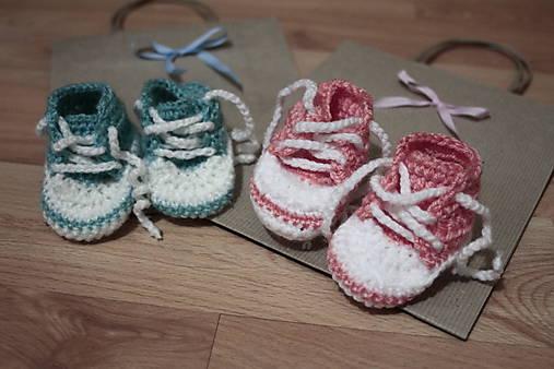 16a45d413a621 Háčkované tenisky pre bábätká / LujTulipankova - SAShE.sk - Handmade ...
