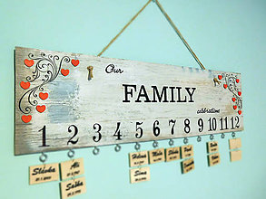 Dekorácie - rodinný kalendár VI - 7325195_